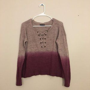 American Eagle Lace Up Sweater